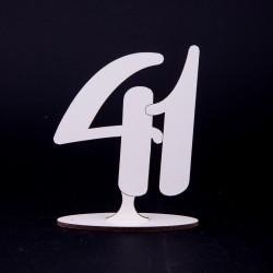 Brojevi beli HDF 3mm