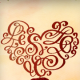 Bež srce ornament