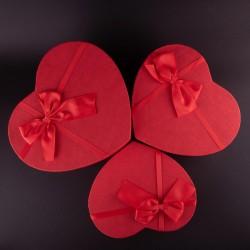 Karton Srce sa mašnom 3kom/set
