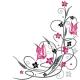 Crno-ljubicasti ornament u uglu +20RSD